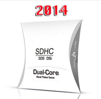 Wholesale 2014 Edition Genuine White SDHC Dual Core Adapter Game Flash Card For DS XL DSi DSL NDS Memory Card Reader DHL