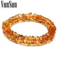 Cheap VunSun Genuine Natural Citrine section natal Lucky Lucky jewelry citrine bracelet female models