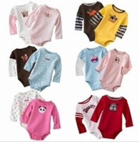 Unisex Summer 100% Cotton Wholesale Baby Clothes Long Sleeve Baby Bodysuits Newborn One-Pieces Romper Infant Bodysuit HOT SALE