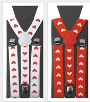 Wholesale New Cheap Red Heart Printed Suspenders Pants For Women Valentine s Decorations