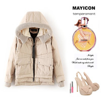 Wholesale Hot Sale Women Autumn Winter Fashion New Style Thick Hooded Short Down Parka Coat Casual Loose Jacket