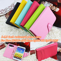 Leather a960 - Candy Leather Flip Wallet PU Case Holster Cover For Hero H7500 A960 Zopo Zp800 Zp900 S Wholesales