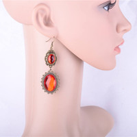 Charm Black South American designer big stud earring sex photo red ruby stone children's sex photos 2014 new products jewelry wholesale earrings jewelry free shipping