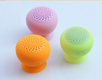 Wholesale cheap miniBoom Portable Bluetooth Speaker wireless Microphone mini suction cup speakers handsfree built in rechargeagble lithium battery p