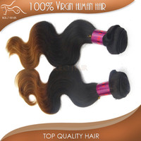 Wholesale Body Wave Ombre Brazilian Hair Extension inch to inch ombre color B A grade virgin human hair Mix length