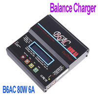 Wholesale Battery Charger B6AC W A NiCd MH LiLo LiFe Pb RC Battery Balance Charger Lithium Battery Charger Freeshipping