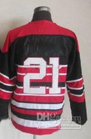 Black Red 75th Blackhawks 21 Stan Mikita Hockey Jerseys 2013...
