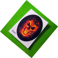 Personalized Sticker   60 X FlaMes Skull Motorcycle Car Auto Racing Decal Sticker