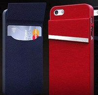 For Apple iPhone Leather For Christmas New PU Learther + Hard Plastic Card Wallet Holder Stand Back Cover Case With Credit Card Holder Slot For iPhone 5 5S 5C Samsung S4 Note 3