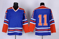 Mark Messier 11 Hockey Jerseys New Style Oilers Sports Jerse...