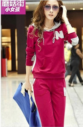 Wholesale the spring and autumn period and the new women s clothing han edition sports in the spring and autumn fleece