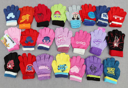 Wholesale Children yr yrs Cartoon Printed Knitted Finger Gloves Kids Warm Mittens Baby Product