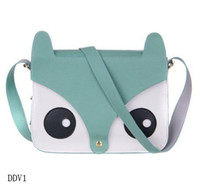 Wholesale Fashion Red Lady Messenger Tote Synthetic Leather Cute Fox Shape Purse Shoulder Bag Handbag
