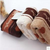 Wholesale 34 cm Matt loftex dot bear high quality scarf waste absorbing cotton fluffy soft scarf gift hand towel