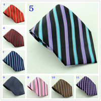"Neck Tie Normal Red 3.3"" hot sale mens necktie silk striped necktie shirt tie work tie sample order"