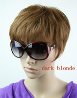 Wholesale Dark Brown Color Light Brown Color Synthetic Romantic Practical Short Wigs for Men Free and Fast Shipping Man Wigs for Sale