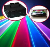 Promoción de la fábrica! 4000 MW 4W profesional 20K pps la animación del RGB luz láser DMX512 ILDA DJ del partido del club del disco etapa de la barra de luz láser + QuickShow