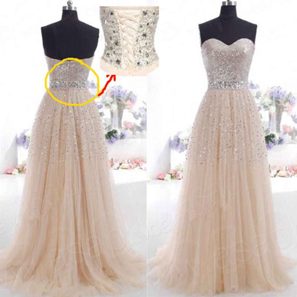 Hot sexy sweetheart tulle champagne long bridesmaid dress for Champagne pink wedding dresses