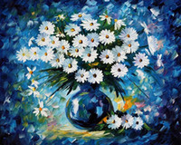 One Panel Oil Painting Abstract palette knife oil painting modern art flower canvas painting K650 40x50cm