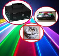 4W 4000 MW RGB a todo color profesionales pps 30k DMX512 LED RGB luz de la etapa animación láser + Pangolin QuickShow + 10m cable ILDA