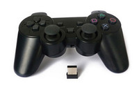 Wholesale 2014 New x2 GHz Wireless USB GamePad Joypad Joystick Controller For PC Laptop Notebook