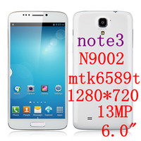 6.0 Android 2G Note 3 n9000 N9002 Android Phone 6.0 IPS inch MTK6589T quad core 1.5GHz 2GB RAM 32GB ROM 1920*1080 3G Dual SIM cellphone
