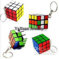Wholesale Factory directly sales Keychain Rubik s cube x3x3cm Puzzle Magic Game Toy Key Keychain