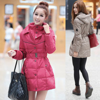 Wholesale Plus Size New Fashion Women s Down Jacket Long Coat Ladies Winter Warm White Duck Padded Parka Hood Overcoat Thick Clothing