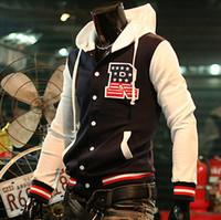 Wholesale Hot Sale New Men s quot R quot Varsity Letterman College Baseball jacket hoody men s jackets M L XL XX