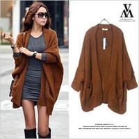 Cheap HarryStore WW-5171 2013 winter new women casual Korean style loose sweaters batwing sleeve