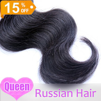 Wholesale Grade a human hair weave wavy Russian virgin hair weaves amp queen love hair products