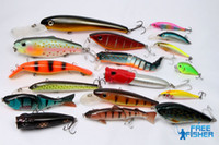 Soft Baits Hard lure on sale On Sale 17 pcs high quality fishing hard lures baits Live trout etc. OS-E1