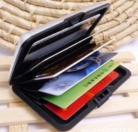 Wholesale Waterproof Mini Aluminium Credit Card Holder Wallets Bank Card Business ID Card Holder Wallet Protector