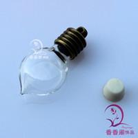assorted rice - 15PCS MM Glass Vials Bronze plated caps assorted designs Rice vials wishing vials rice jewelry vials