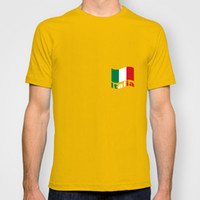 Wholesale Italian Flag With Lettering Of Italia For Football World Cup O neck tee shirts Men s Knitted simple t shirt