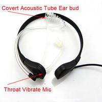 acoustic jack - Throat MIC Covert Acoustic Tube Earpiece PTT For Motorola Radios mm Jack T6200 T6210 T6220 T6250 T270 T280 T289 T5100 C0015A