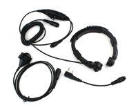 military equipment - Free shiping Military Racing Equipment Throat Mic Air Tube Headset for Portable CB Radio TH F6 F7 C0037A