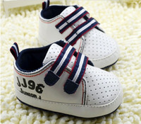 Wholesale New Arrival Infant Baby Shoes Fashion Letter Sport Toddler Sneakers First Walker Shoes M Newborn Shoes pair QZ528