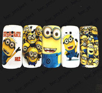 Cheap Cute Minions Cartoon Despicable Me Hard Plastic Case Cover for Samsung Galaxy S3 mini i8190 S4 mini i9190 50pcs lot with retail package