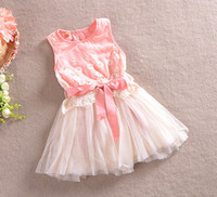 TuTu Summer A-Line Summer Girls Dresses lace lacework pure cotton Children sleeveless Dress Baby Kids Clothing TS172