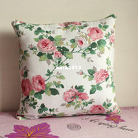 Wholesale quot Beautiful Floral Cloth Pillow Cushion Cover For Sofa or Bed P25 pink