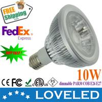 Wholesale Free Fedex replace w halogen w e26 e27 cob par30 led bulb k v ac dimmable CE ETL cETL