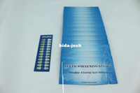 Wholesale NEW PRODUCT Hot Sell Fast Delivery Mint Flavor Teeth Whitening Strips with shade guide pc per box