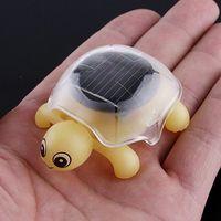 Multicolor solar powered toys - 60pcs Mini Solar Educational Toy Little Tortoise Funny Toy Solar powered Turtle with Solar Panel for Kids Funny Toy