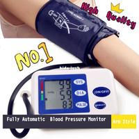 Wholesale HQ LCD Screen Digital Memory Arm Blood Pressure Monitor amp Heart Beat Meter