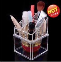 Wholesale The new European style double vanity cosmetic acrylic crystal jewelry box plastic box