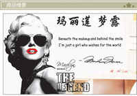 Wholesale Sofa can remove the bedroom TV setting wall stick Marilyn Monroe star stickers