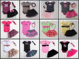Retail Baby Girls Suits Lace Dresses Baby Romper TUTU Dress Hairband 3pcs Sets Hot Sale 1piece lot HJ