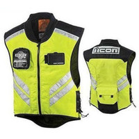 Wholesale ICON MIL SPEC MESH motorcycle motorbike bike racing high visible reflective warning cloth vest hot sell