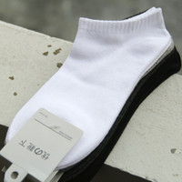 Wholesale Under Actor s boots cotton solid color cotton boneless Mens boat socks